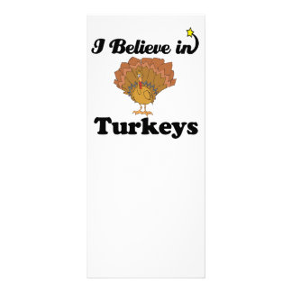 i believe in turkeys full color rack card