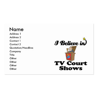 i believe in tv court shows business card templates