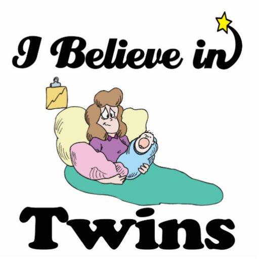 i believe in twins photo cutout