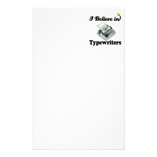 i believe in typewriters stationery