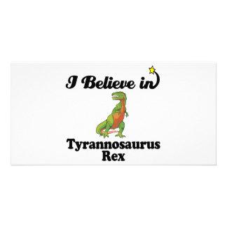 i believe in tyrannosaurus rex photo card