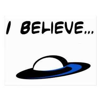 I Believe in UFO's Postcard