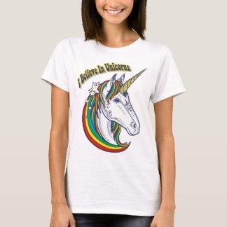 I Believe In Unicorn Rainbow Graphic Design T-Shirt