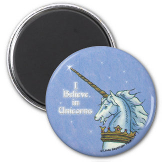 I Believe in Unicorns 2 Inch Round Magnet