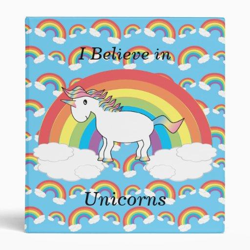 I believe in unicorns binder