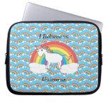 I believe in unicorns laptop sleeves