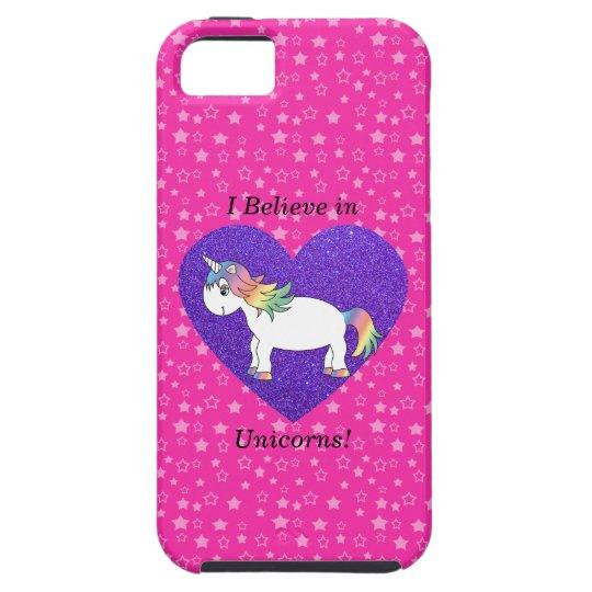 I believe in unicorns pink stars iPhone SE/5/5s case