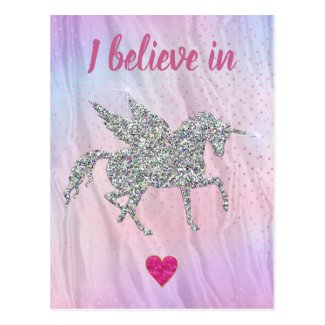 I Believe in Unicorns Postcard