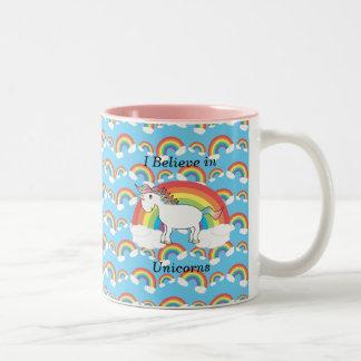 I believe in unicorns Two-Tone coffee mug