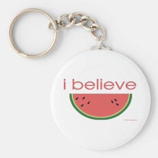 I believe in Watermelon Keychain