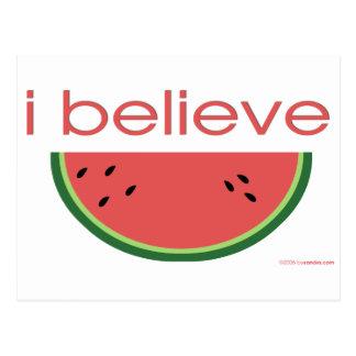 I believe in Watermelon Postcard