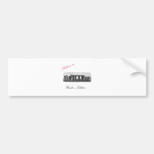 I believe in Winter Solstice Car Bumper Sticker