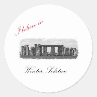 I believe in Winter Solstice Stickers