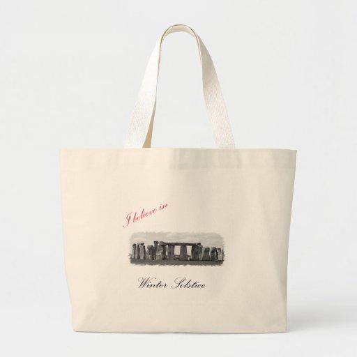I believe in Winter Solstice Tote Bags