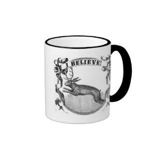 I Believe (Jackalope) Ringer Coffee Mug