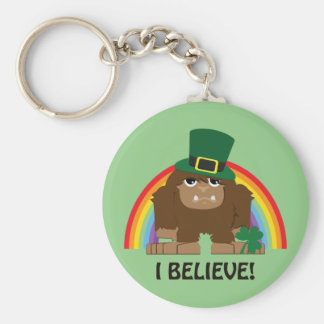 I Believe! Leprechaun Bigfoot Keychain