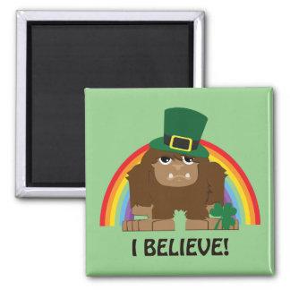 I Believe! Leprechaun Bigfoot Magnet