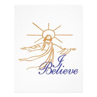 I Believe Letterhead
