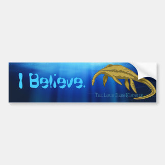 I Believe Loch Ness Monster Bumper Sticker