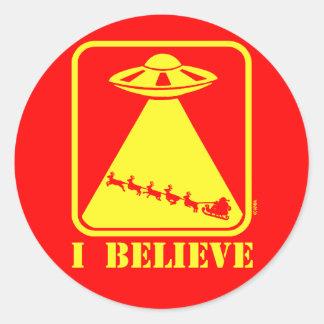 I believe round sticker