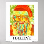 """I Believe"" Santa Art Print"