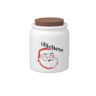 I Believe Santa Cookie Jar Candy Jars