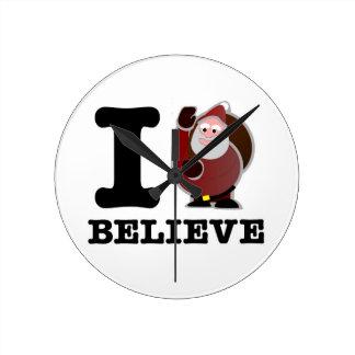 I Believe (Santa is real) Wall Clock