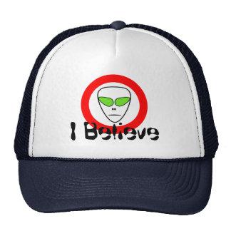 I Believe Space Alien UFO Trucker Hat