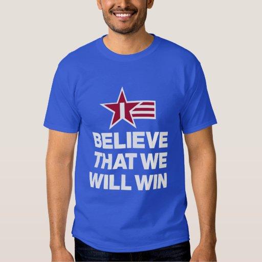 I Believe That We Will Win Soccer Men's T-Shirt | Zazzle