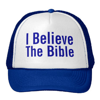 I Believe The Bible Mesh Hats