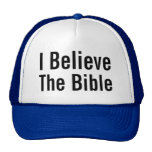 I Believe The Bible Mesh Hats