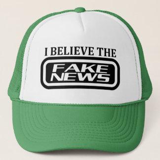 I believe the fake news trucker hat