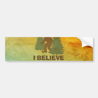 I believe there's a SQUATCH in these woods Bumper Sticker