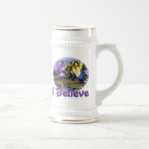 believe, tiger, swallowtail, art, butterflies, butterfly, faeries, fairy, fairies, fantasy, creatures, creature, faery, star, elven, elves, elf, mushrooms, mushroom, seven, pointed, ponds, nature, pond, lilly, lillies, lillypad, flowers, monarch, common, blue, peacock, wings, fling, fly, computer, graphics, graphic, fae, animals, Caneca com design gráfico personalizado