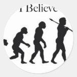 I Believe - UFO Round Sticker