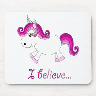 I believe unicorn - pink mouse pad