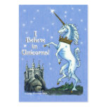 I Believe Unicorns Large Business Cards (Pack Of 100)