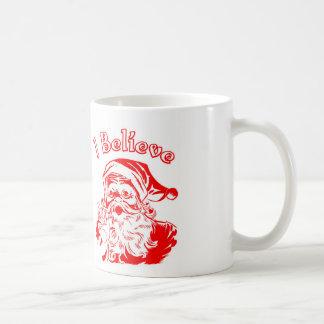 I Believe Vintage Santa Face mug.