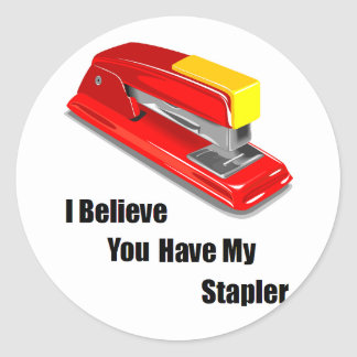I believe you have my stapler office space classic round sticker