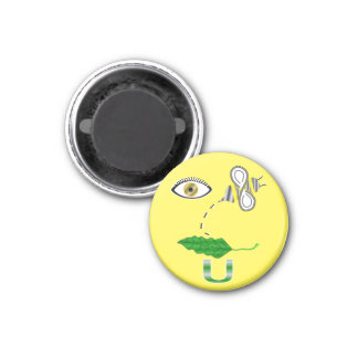 I Believe You Rebus 1 Inch Round Magnet