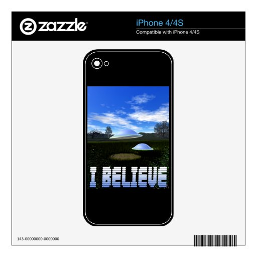 I Believe Zazzle Skin Decals For iPhone 4S
