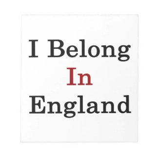 I Belong In England Notepad
