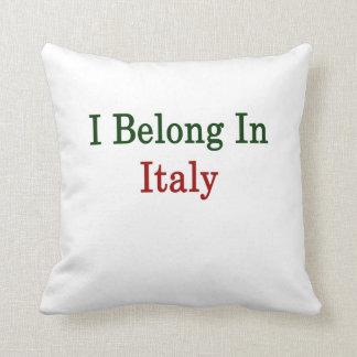 I Belong In Italy Pillows