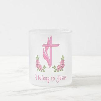 I belong to Jesus Frosted Glass Coffee Mug