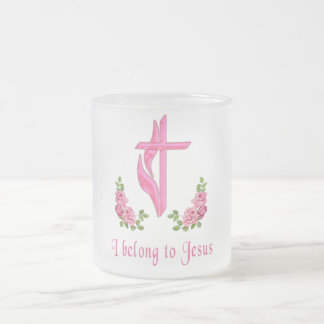 I belong to Jesus gifts Frosted Glass Coffee Mug