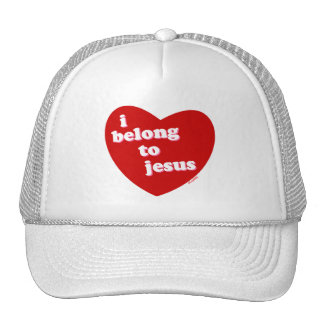 I belong to Jesus heart design Trucker Hats