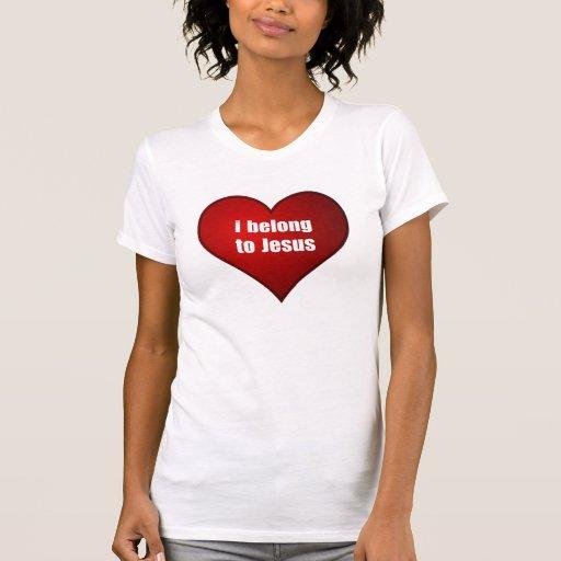 I Belong To Jesus Heart Ladies T-Shirt