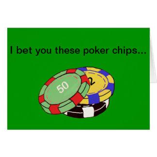 I bet you card