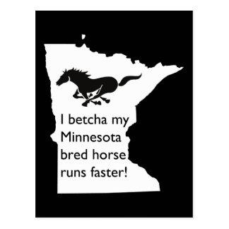 I Betcha My MN Bred Horse Runs Faster Postcard