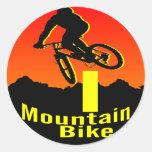 I bici de montaña pegatinas redondas